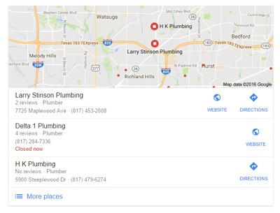 Google's 3-Pack Local Map Results