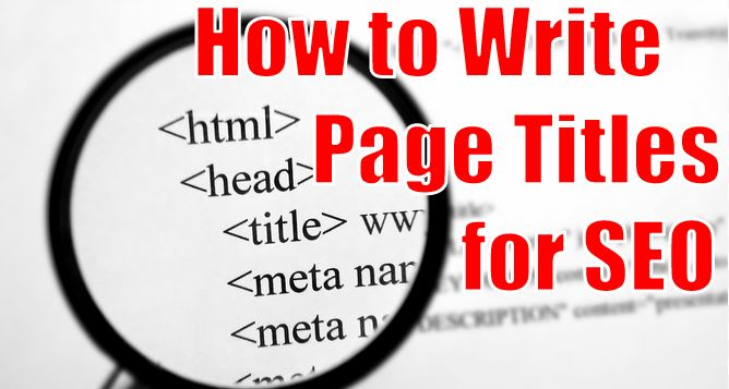How to Write Page Titles for SEO