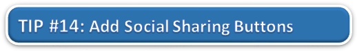 Add Social Sharing Buttons