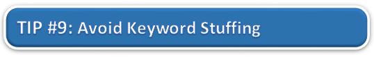 Avoid Keyword Stuffing