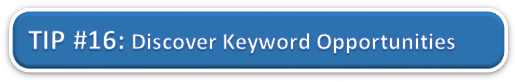 Discover Keyword Opportunities in Analytics