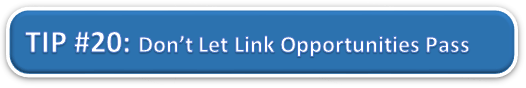 Don't Let Link Opportunities Pass You By