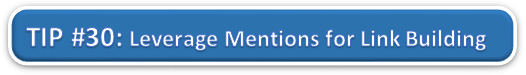 Leverage Mentions for Link Building