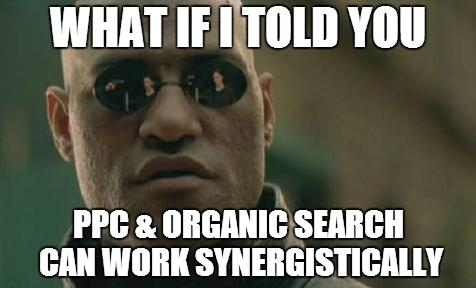 PPC Organic Synergy Meme