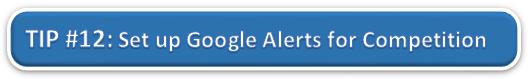 Setup Google Alerts for Competition