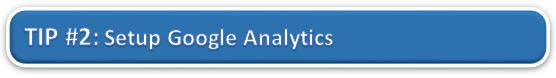 Setup Google Analytics
