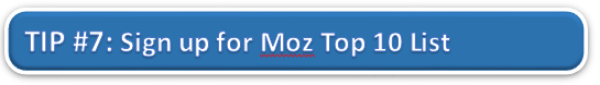 Sign Up for Moz Top 10