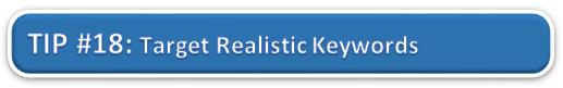 Target Realistic Keywords