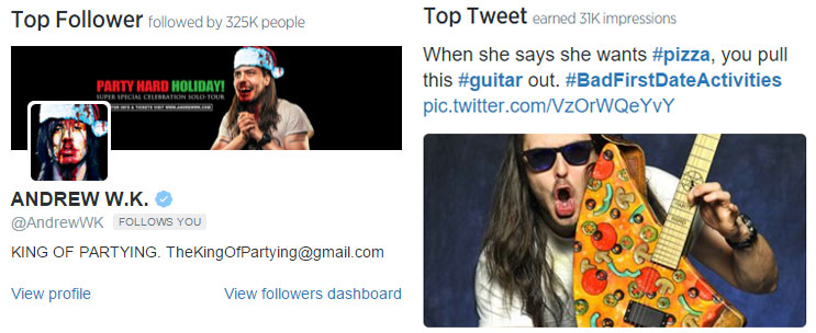 Wired SEO Andrew WK Pizza Guitar