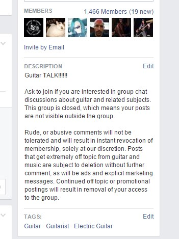 Facebook Group Description