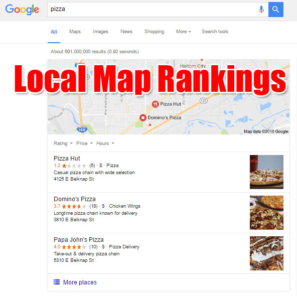 Google's Local Map Rankings