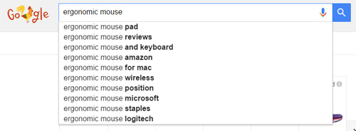 Google Autocomplete Search