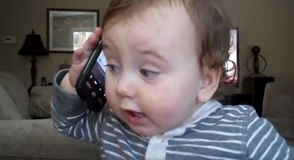 Baby has Smart Phone